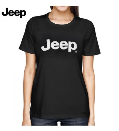 Jeep Logo WMNS T-Shirt (XL)- Black