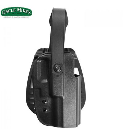 Uncle Mike's Kydex Thumb Break Paddle Holster 17/19/22/23 RH (21)- Black