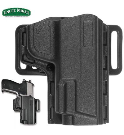 Uncle Mike's Tact Reflex Open Top Holster S&W M&P SD9/SD40 RH (09)- Black