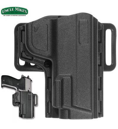 Uncle Mike's Tactical Reflex Open Top Holster S&W M&P Shield RH (10)- Black