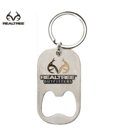Realtree Outfitters Bottle Opener Keychain- Silver