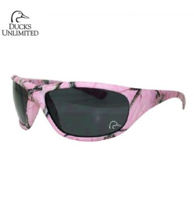 Ducks Unlimited Realtree Delta Polarized Sunglasses- RTAP Pink/Grey