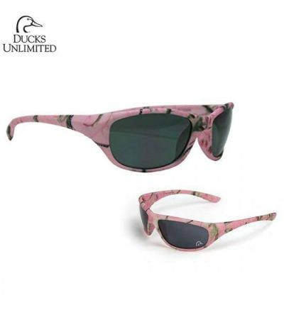 Ducks Unlimited Realtree Dixie Polarized Sunglasses- RTAP Pink/Grey