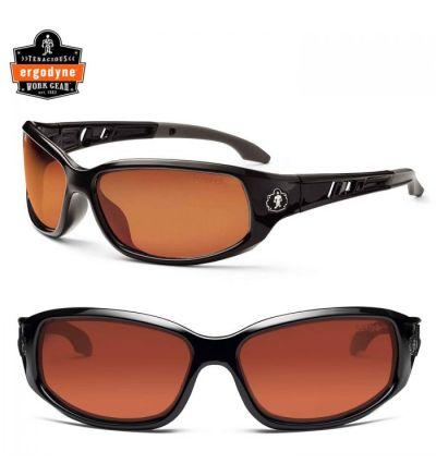Ergodyne Skullerz Valkyrie Safety Sunglasses- Black/Copper