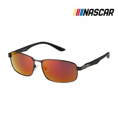 NASCAR Sunglasses Clutch Polarized- Gunmetal/Amber Crystal