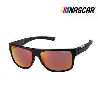 NASCAR Sunglasses Overdrive Polarized- Matte Black/Amber Crystal
