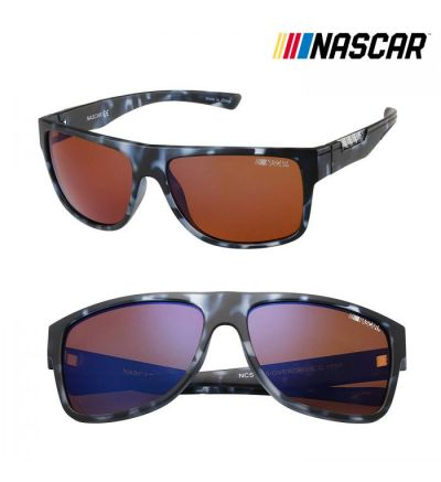 NASCAR Sunglasses Overdrive Polarized- Blue Demi/Amber Crystal