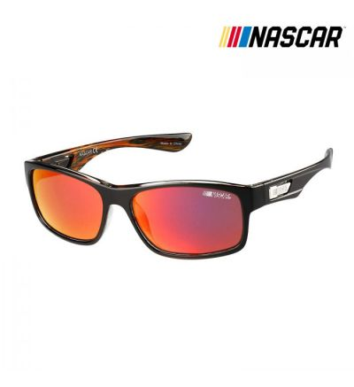 NASCAR Sunglasses Racerx Polarized- Shiny Black/Amber Crystal