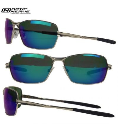 Optic Nerve One Blackhawk Polarized Sunglasses-  Matte Silver/Smoke