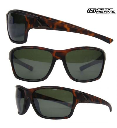 Optic Nerve One Reeftip Polarized Sunglasses- Dark Demi/Smoke