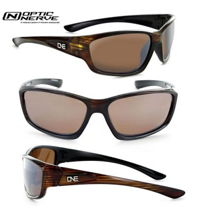 Optic Nerve One Avalanche Polarized Sunglasses- Driftwood/Amber