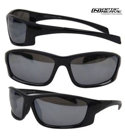 Optic Nerve Mountain Shades Knuckle Sunglasses- Black/Smoke
