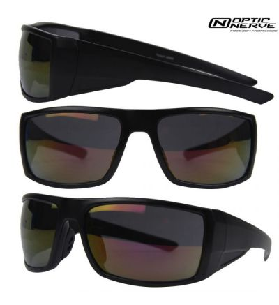 Optic Nerve Mountain Shades Pursuit Sunglasses- Black/Smoke
