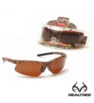 Realtree Full Sport Polarized Sunglasses - RTHW/Amber