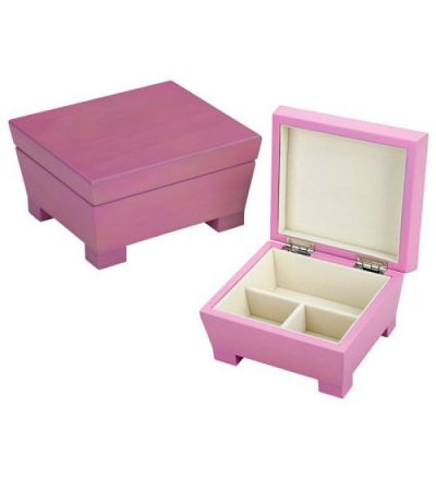 Reed & Barton Anna Jewelry Chest - Pink