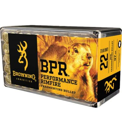 Browning BPR 22LR Ammunition 37 gr Fragmenting (Box/50)