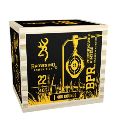 Browning BPR Ammu. 22LR 40 gr LRN Blackened (Wood Chest/400)