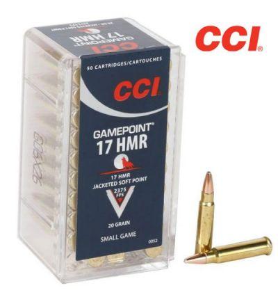 CCI Gamepoint 17HMR Ammunition JSP 20 gr (Box/50)