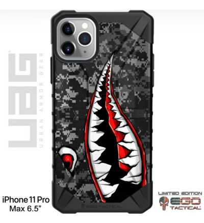 Psycho_Teeth_Warhawk_Tiger_Shark_on_Black_Ops_Camo_Phone_Case