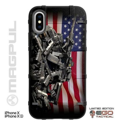 US_American_Flag_2A_Gun_Rights_Weapons_Pile_Phone_Case