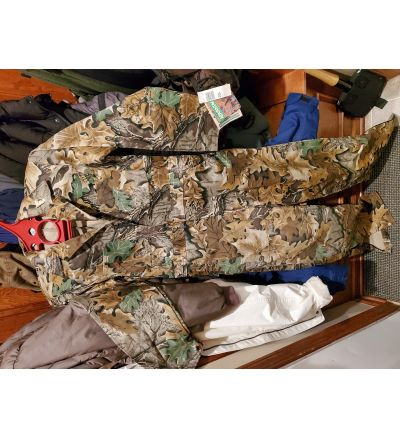 10X brand Stalker suit coverall, Advantage Camo, medium regular