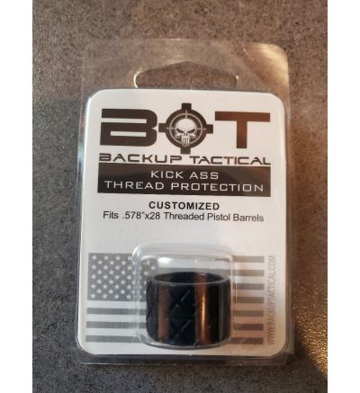 Backup Tactical Thread Protector - Diamond/Hash Pattern - HSH-BLK45US - .578 x 28 - Black