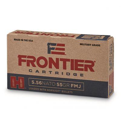 Hornady Frontier Cartridge, 5.56x45mm NATO, FMJ, 55 Grain, 20 Rounds