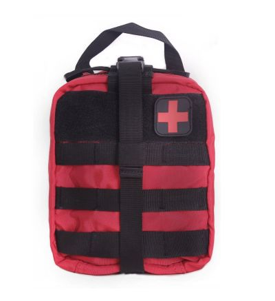 Unigear Red Tactical Molle Rip-Away EMT Medical First Aid Utility Pouch