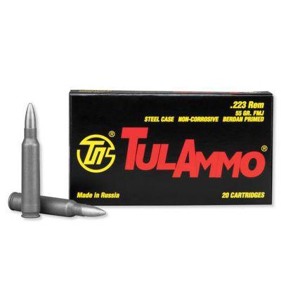 Tulammo Steel Case Rifle Ammo, 223 Rem. 55 gr. FMJ 20 rd.