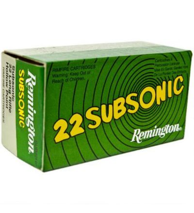 Remington 22LR Subsonic, SUB22HP, 38GR HP 50/box, (10 brick/5000rd case)