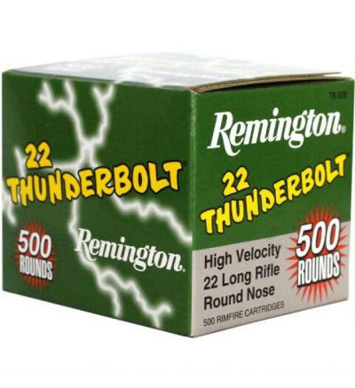 Remington Thunderbolt 22LR, TB-222B/21241 40gr RN, 500/box  (10 boxess/500/brick; 4bricks/2000rd case)