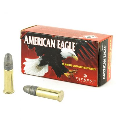 Federal American Eagle .22LR, 40gr solid (50rd/box (10 boxes/500/brick)