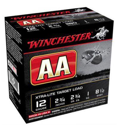 Winchester AA 12G Xtra-Lite Target Load 2.75DR 1oz #8.5