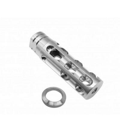 AR 15 1/2X28 Steel 16 Holes Compensator Muzzle Brake