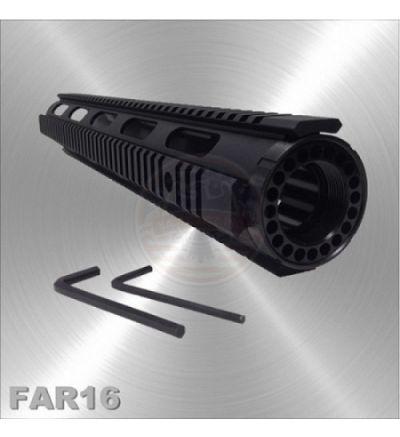 "AR-15 Free Float Quad Rail Handguard Extended Length 16"""