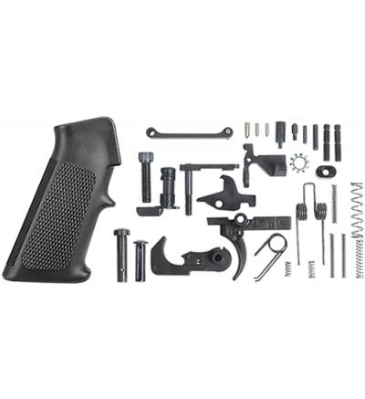 Rock River Arms LOWER RECEIVER PARTS KIT, SINGLE STAGE TRIGGER, STANDARD A2 GRIP BLACK