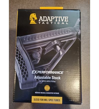 Adaptive Tactical, EX Performance Stock, Fits AR Rifles, Black Finish