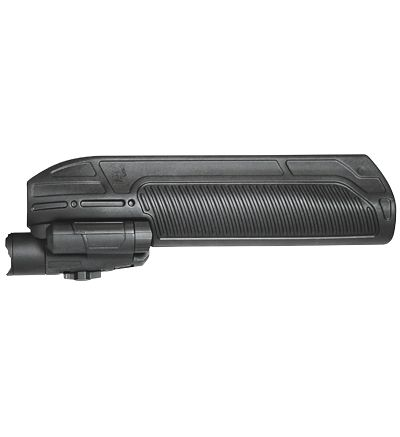 Adaptive Tactical, EX Performance Tactical Light and Forend, Black, Moss 500/590 & 88 12 Gauge, 300-Lumen Beam