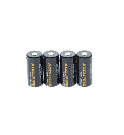 Accufire 16340(CR123A) Battery 4-pack