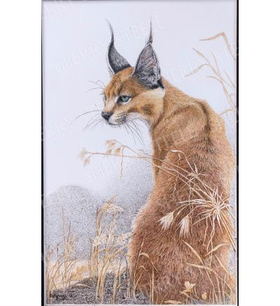 I Heard That! – Caracal Cat by Sherry Steele