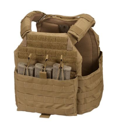 GPT Warrior Kit- Plate Carrier/(2)Plates/Triple Mag Pouch (Coyote)