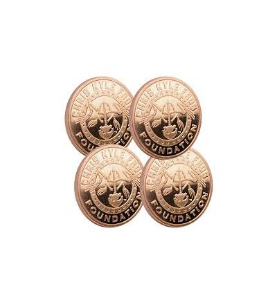 Chris Kyle Frog Foundation 1 ounce, .999 ADVP Copper Coin  - Buy 3 Get 1 Free - State of Texas Design