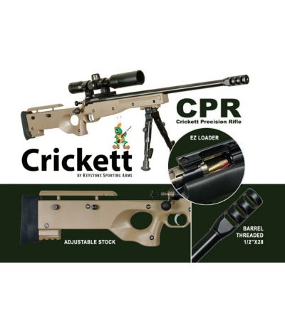 CRICKETT CPR 22LR BL/TAN PKG