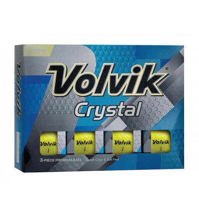Volvik Crystal Golf Balls - Yellow