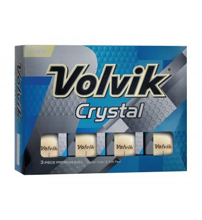Volvik Crystal Golf Balls - White