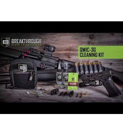 Breakthough Clean Technologies QWIC-3G 3-Gun Pull Through Cleaning Kit (223cal / 9mm / 12ga) - Camo