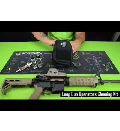 Breakthough Clean Technologies LOC-U Universal Long Gun Cleaning Kit (22cal - 12ga) - Gray