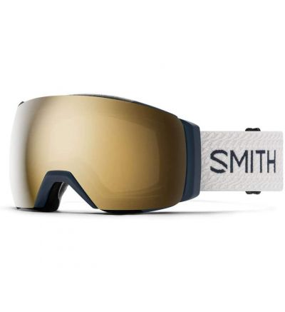 Smith I/O MAG XL Asian Fit Snow Goggle - French Navy Mod   Chromapop Sun Black Gold Mirror