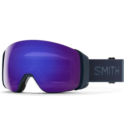 Smith 4D MAG Snow Goggle - French Navy   Chromapop Everyday Violet Mirror