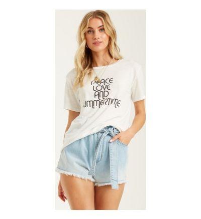 Peace And Summertime T-Shirt - SALT CRYSTAL / L/12